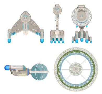 starship vessels and station collection