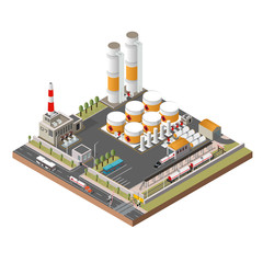 Oil refinery isometric