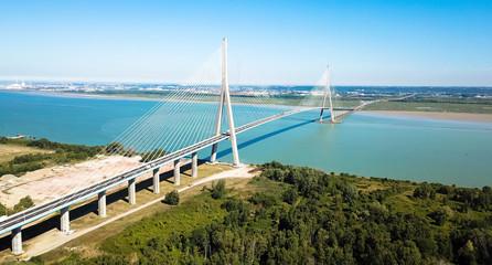 Brücke über die Seine, Normandie Fototapete