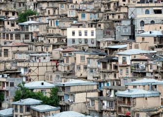 Scenic stepped village, Iran