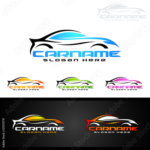 Auto Car Logo For Sport Cars Rent Wash Or Mechanic Stock Image
