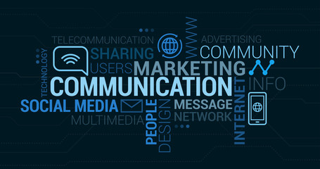 Communication and marketing tag cloud
