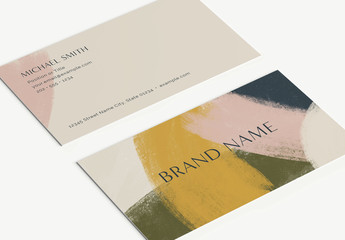 Hand-Brushed Business Card Layout