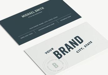 Dark Blue Business Card Layout