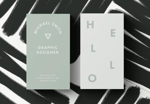 Mint Business Card Layout