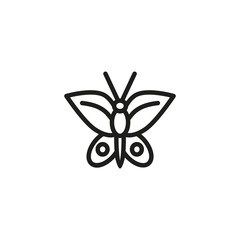 Butterfly line icon. Insect, moth, harmony.Nature concept. Vector illustration can be used for topics like ecology, summer, wildlife