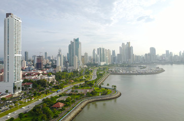 Keuken foto achterwand Chicago View of the modern skyline of Panama City, Panama
