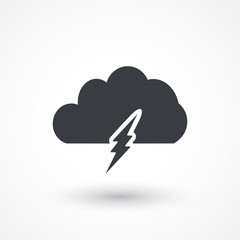 Lightning bolt icon design. Icons for mobile or web interface