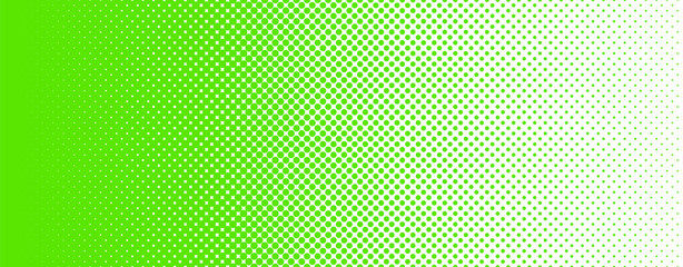 Seamless Screentone Graphics_Halftone Gradation_Green