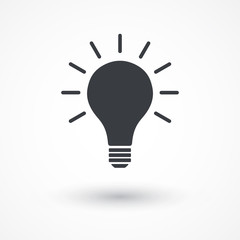 Light bulb idea icon