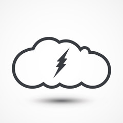 Lightning bolt icon. Modern line icon design. Modern icons for mobile or web interface.