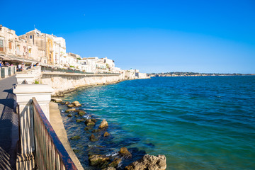 Wall Mural - Ortigia view during a summer day