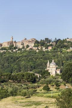 Italy. Tuscany. Siena district Val di Chiana. Montepulciano. Church of Madonna di San Biagio