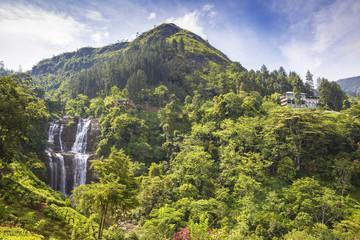 Sri Lanka, Nuwara Eliya District, Ramboda, Ramboda Falls