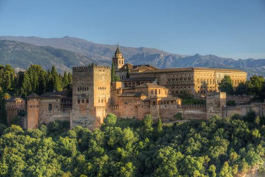 Alhambra from Albaicin, UNESCO World Heritage Site, Granada, Andalusia, Spain