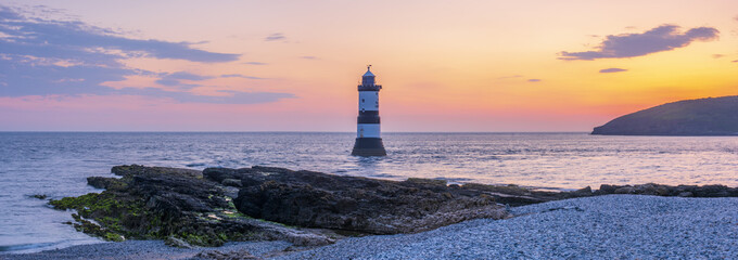 Trwyn Du Lighthouse, Black Point, Penmon, Anglesey, Wales, UK