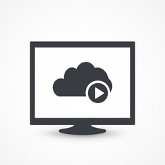 Access Video Cloud Computing Illustration