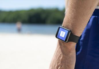 Smartwatch on Arm Mockup