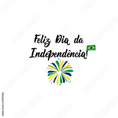 Text in portuguese happy independence day lettering vector text in portuguese happy independence day lettering vector illustration design concept banner m4hsunfo