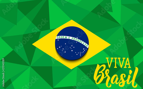 Brazil independence day greeting card text in portuguese viva brazil independence day greeting card text in portuguese viva brazil vector illustration m4hsunfo