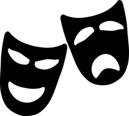 Drama Masks Tragedy and Comedy