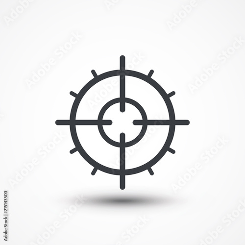 Symbol of crosshair in infographics style  Gun target icon