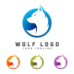 Wolf Logo Design Template , Design Vector illustration
