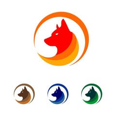 Wolf logo design template ,Vector illustration