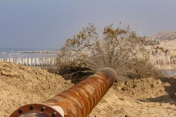Sandvorspülung Nordseeküste