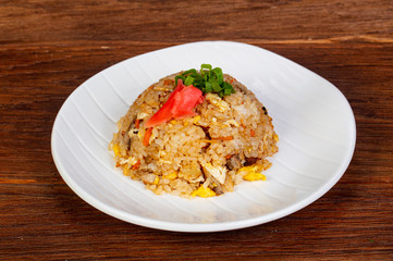 Stir fry rice with chicken