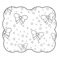 stars and decorative bows pattern