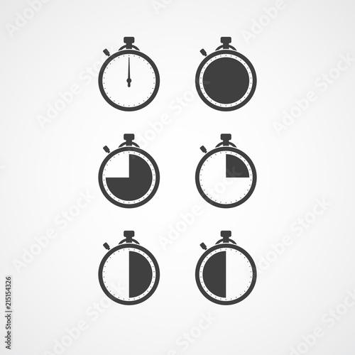 stopwatch icon set timer icon chronometer timekeeper chronoscope