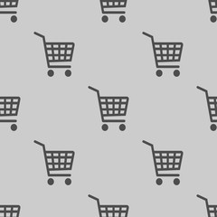 shopping cart simple icon illustration vector seamless pattern
