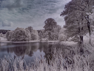 infrared photography - ir photo of panorama - the art of our world in the infrared spectrum
