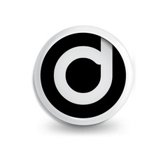 d Letter in circle icon logo element. letter logo template