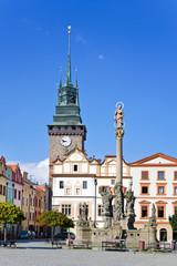 Marian column, Green gate, Pardubice, East Bohemia, Czech republic