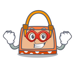 Super hero hand bag character cartoon