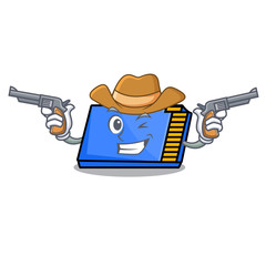 Cowboy memory card character cartoon