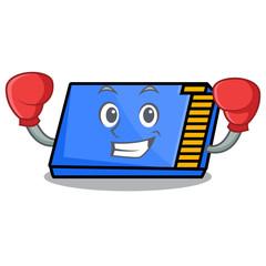 Boxing memory card character cartoon