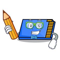 Student memory card character cartoon