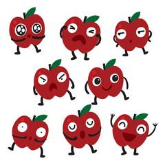 apple character vector design