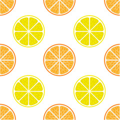 Orange and lemon fruit slices