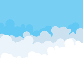Cloud template vector illustration design
