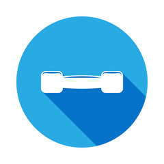small dumbbells icon with long shadow. Element of sport icon for mobile concept and web apps. Isolated small dumbbells icon can be used for web and mobile.