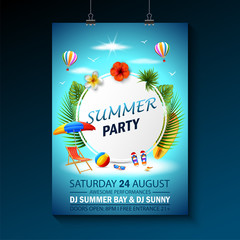 Search photos category hobbies and leisure entertainment summer party invitation template invitation beach party invitation with umbrellas stopboris Image collections