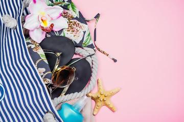 Womans summer beach accessories