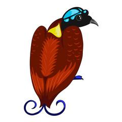 bird of paradise icon.