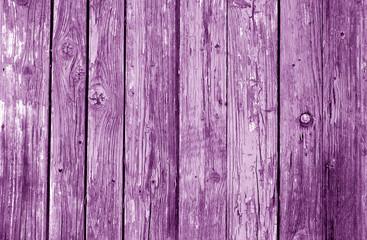 Old grunge wooden fence pattern in purple tone.