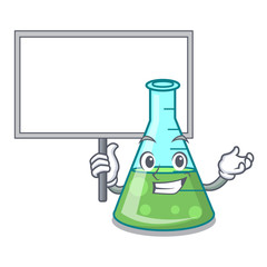 Bring board science beaker character cartoon