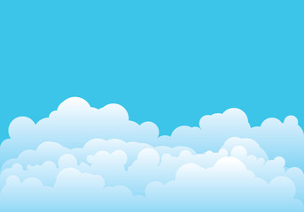 Cloud template vector illustration
